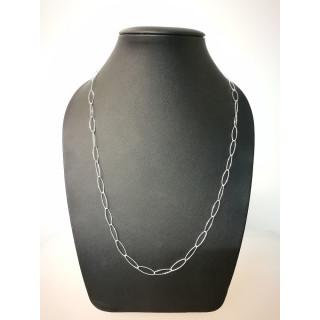 Silberkette - 51000 - Diamond cut, medium Oval