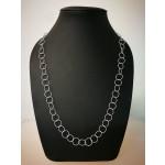 Silberkette - 51100 - Runde Kette, große Ringe