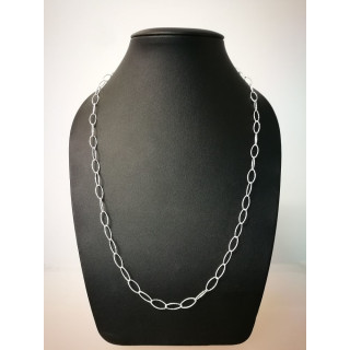 Silberkette - 51200 - Diamond cut, lang Oval