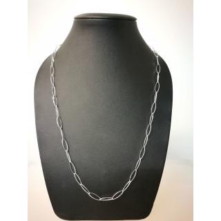 Silberkette - 51300 - Oval poliert
