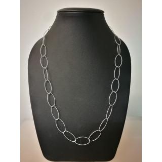 Silberkette - 51400 - Diamond cut, groß Oval