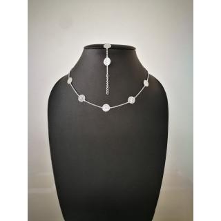 Silberkette - 53100 - Mandala Kette -Silber