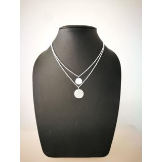 Silberkette - 54200 - Doppel-Kreis