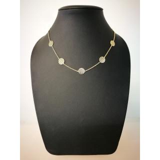Silberkette - 53100G - Mandala Kette -vergoldet