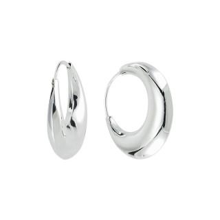 Silbercreolen plain - poliert - ECP14394