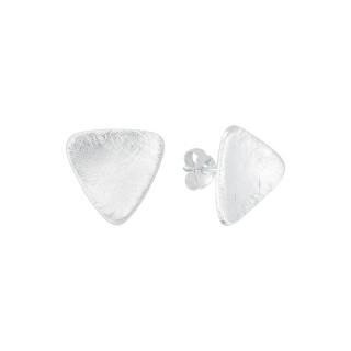 Silber-Ohrstecker - plain - gebürstet - ESA15510