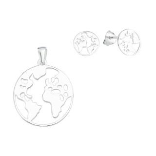 Welt - Rund  Silber Plain Set - poliert - SPA17361