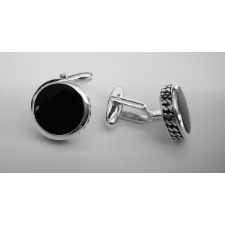 Manschettenknopf  925 Silber - oxidiert - cl742