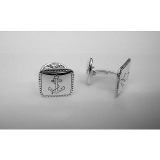 Manschettenknopf  929 Silber - oxidiert - cl759