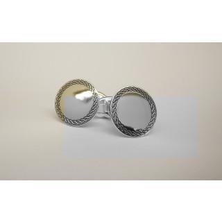 Manschettenknopf  930 Silber - poliert - cl760