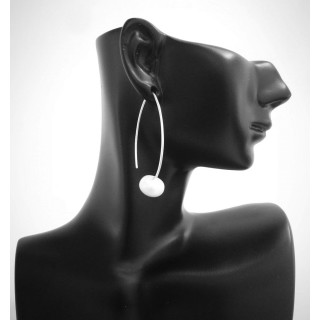 Silber Perlenohrringe - mit Perle - EPP14311