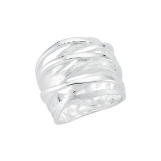 Plain-Silberring - plain - Gebürstet und Poliert - R7800