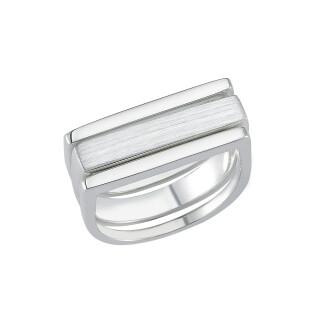 Plain-Silberring - plain - Mattiert und Poliert - R7805