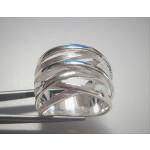 Plain-Silberring - plain - Gebürstet und Poliert -...