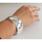 Armreif-Silber - CBG10044-30 - poliert 30 mm