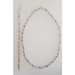 Silber Collier-Armband - T49300