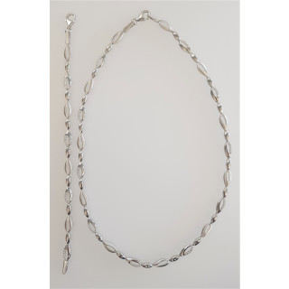 Silber Collier-Armband - T49400