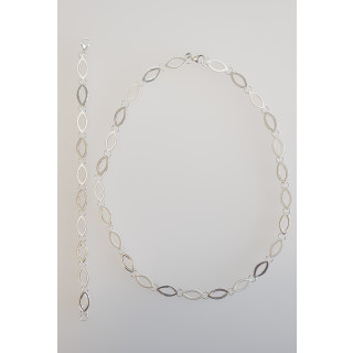Silber Collier-Armband - S54600