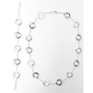 Silber Collier-Armband - S99100