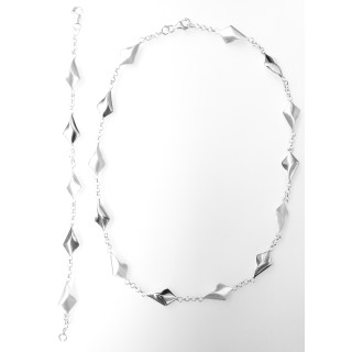 Silber Collier-Armband - S99200