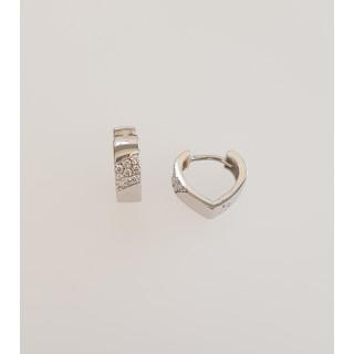 Silbercreole - CZ4256 rhodiniert