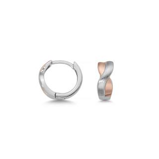 Silbercreole - CM4418 Rhodiniert, bicolor