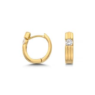 Silbercreole - CZ4422G Vergoldet