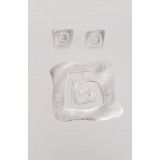 Silber Set gebürstet SA122