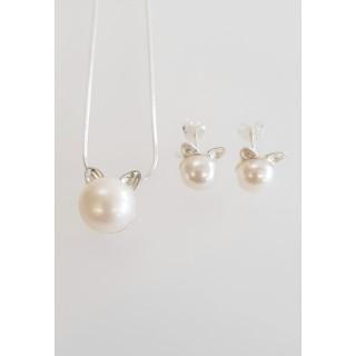 Silber Set Polliert Perle SP101