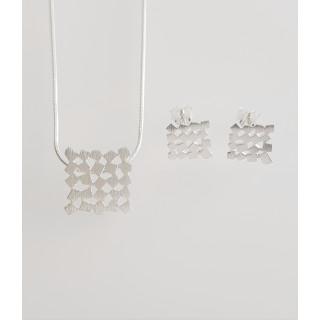 Silber Set mattiert SA154