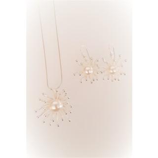 Silber Set Polliert Perle SP103