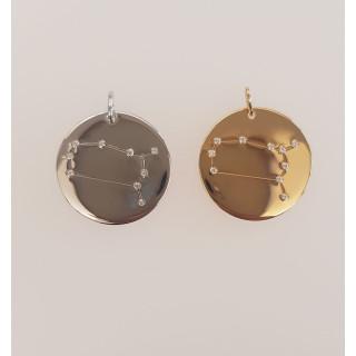 Silberanhänger Sternbild Zwillinge AZ6758