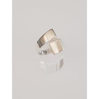 Silberring plain - Mattiert und Poliert - R7775
