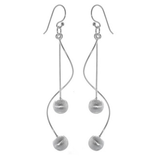 Zea - Silber Ohrringe plain - mattiert