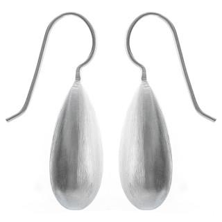 Ohrhänger Zapfen - Silber Ohrringe plain - mattiert